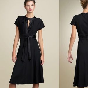 DVF svetlana short sleeve wrap dress black